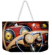 1941 Lincoln Continental Cabriolet V12 Steering Wheel Weekender Tote Bag