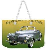 1941 Mercury Eight Convertible Weekender Tote Bag