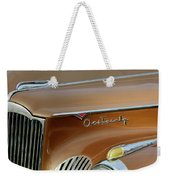 1941 Packard Hood Ornament 2  Weekender Tote Bag by Jill Reger