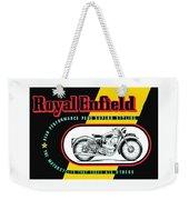 1941 Royal Enfield Motorcycle Ad Weekender Tote Bag