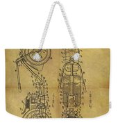 1942 Chopper Motorcycle Patent Weekender Tote Bag