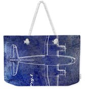 1945 Transport Airplane Patent Blue Weekender Tote Bag