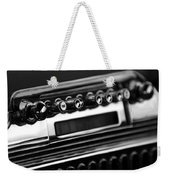 1947 Cadillac Radio Black And White Weekender Tote Bag