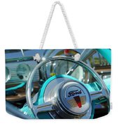 1947 Ford Deluxe Convertible Steering Wheel Weekender Tote Bag