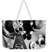 1948 Mg Tc Key Ring Black And White Weekender Tote Bag