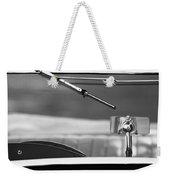 1948 Mg Tc Rear View Mirror Black And White Weekender Tote Bag