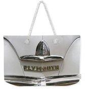 1948 Plymouth Hood Logo Weekender Tote Bag