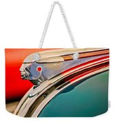1948 Pontiac Chief Hood Ornament Weekender Tote Bag by Jill Reger