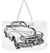 1948 Pontiac Silver Streak Convertible Illustration Weekender Tote Bag