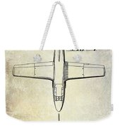 1949 Airplane Patent Drawing Weekender Tote Bag