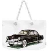 1949 Cadillac Fleetwood Sedan Weekender Tote Bag