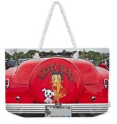 1949 Chevrolet Convertible Betty Boop  Weekender Tote Bag