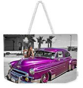 1949 Chevy Bomb_ 25a Weekender Tote Bag