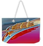 1949 Plymouth Hood Ornament Weekender Tote Bag by Jill Reger