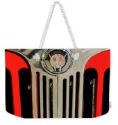 1949 Willys Jeepster Hood Ornament And Grille Weekender Tote Bag