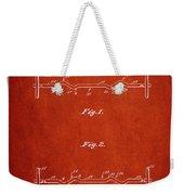 1950 Barbell Patent Spbb04_vr Weekender Tote Bag