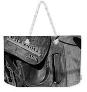 1950 Chevrolet Truck Emblem Black And White Weekender Tote Bag