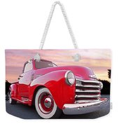 1950 Chevy Pick Up At Sunset Weekender Tote Bag