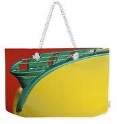 1950 Plymouth Hood Ornament 2 Weekender Tote Bag