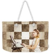 1950s Fictional Pinup Writer Weekender Tote Bag