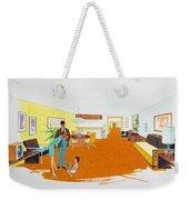 1950's Motel Room Retro Artwork Weekender Tote Bag