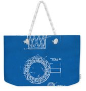 1951 Basketball Net Patent Artwork - Blueprint Weekender Tote Bag