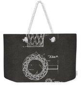1951 Basketball Net Patent Artwork - Gray Weekender Tote Bag