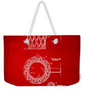 1951 Basketball Net Patent Artwork - Red Weekender Tote Bag by Nikki Marie Smith