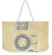 1951 Basketball Net Patent Artwork - Vintage Weekender Tote Bag