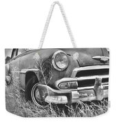 1951 Chevrolet Power Glide Black And White 2 Weekender Tote Bag by Lisa Wooten