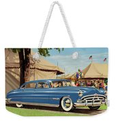 1951 Hudson Hornet - Square Format - Antique Car Auto - Nostalgic Rural Country Scene Painting Weekender Tote Bag