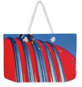 1951 Pontiac Chief Hood Ornament 2 Weekender Tote Bag by Jill Reger