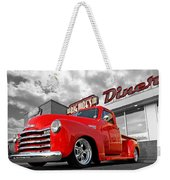 1952 Chevrolet Truck At The Diner Weekender Tote Bag