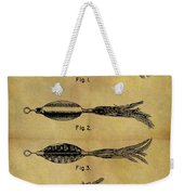 1952 Fish Lure Patent Weekender Tote Bag