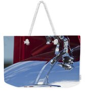 1952 L Model Mack Pumper Fire Truck Hood Ornament Weekender Tote Bag by Jill Reger