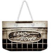 1952 Land Rover 80 Grille  Emblem -0988s2 Weekender Tote Bag