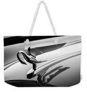 1952 Packard 200 Sedan Hood Ornament -1185bw Weekender Tote Bag by Jill Reger