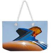 1952 Pontiac Tin Woodie Wagon Hood Ornament 2 Weekender Tote Bag