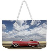 1953 Chevy Bel Air Convertible, Mixed Media, Louis Vuitton Steamer Trunk  Weekender Tote Bag