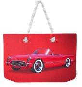 1953 Corvette Classic Vintage Sports Car Automotive Art Weekender Tote Bag