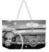 1954 Chevrolet Corvette Steering Wheel -368bw Weekender Tote Bag