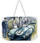 1954 Le Mans 24 Jaguar D Type Short Nose Stirling Moss Peter Walker  Weekender Tote Bag