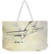 1955  Airplane Patent Drawing Weekender Tote Bag