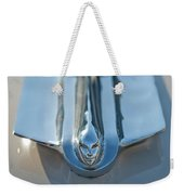 1955 Cadillac Coupe Hood Ornament Weekender Tote Bag