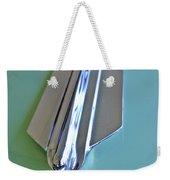 1955 Cadillac Fleetwood Sedan Hood Ornament Weekender Tote Bag