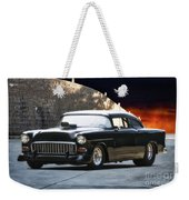 1955 Chevrolet Coupe 'sinister Chevy' Weekender Tote Bag