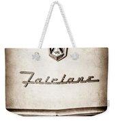 1955 Ford Fairlane Crown Victoria Emblem -1713s Weekender Tote Bag