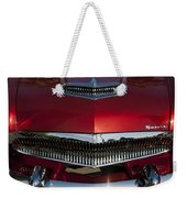 1955 Kaiser Hood Ornament And Grille Weekender Tote Bag