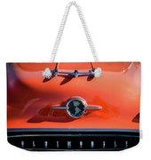 1955 Oldsmobile Rocket 88 Hood Ornament Weekender Tote Bag by Jill Reger