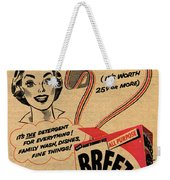 1955 Vintage Washing Powder Advert Weekender Tote Bag